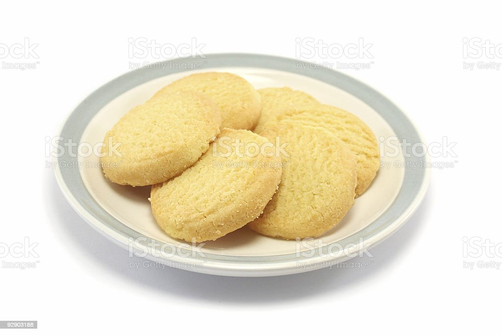 Shortbread cookies on a plate royalty-free stock photo
