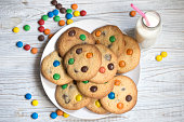 istock Shortbread cookies with multi-colored candy. Homemade cookies decorated with multi-colored candy drops 1047158634