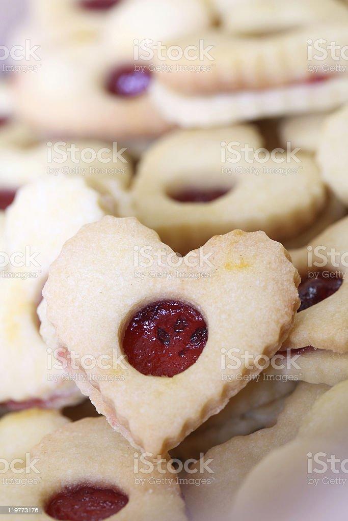 Shortbread hearts royalty-free stock photo