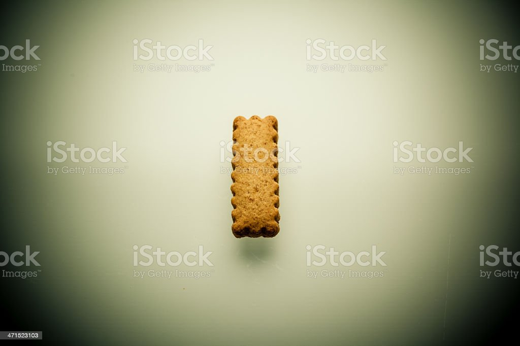 Shortbread Letter I royalty-free stock photo