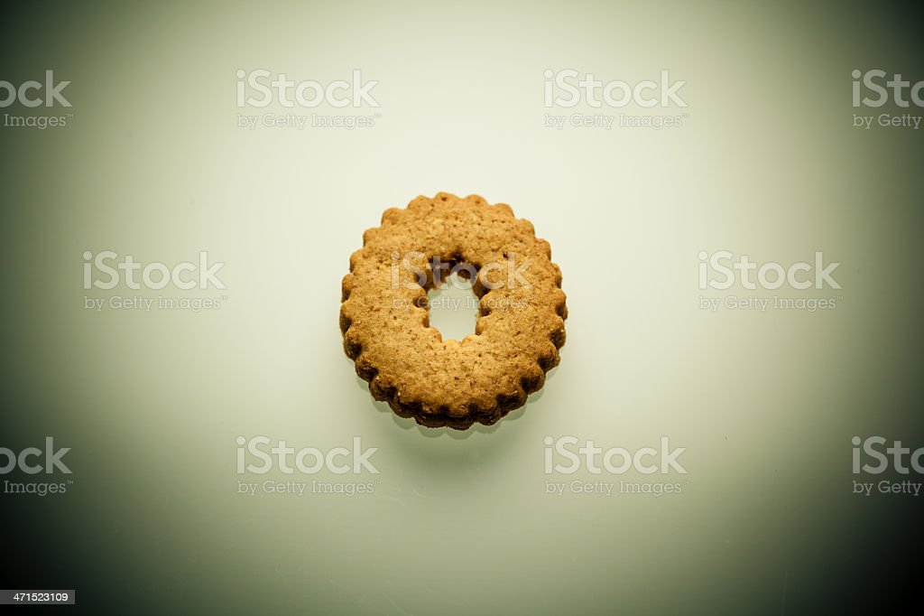 Shortbread Letter O royalty-free stock photo