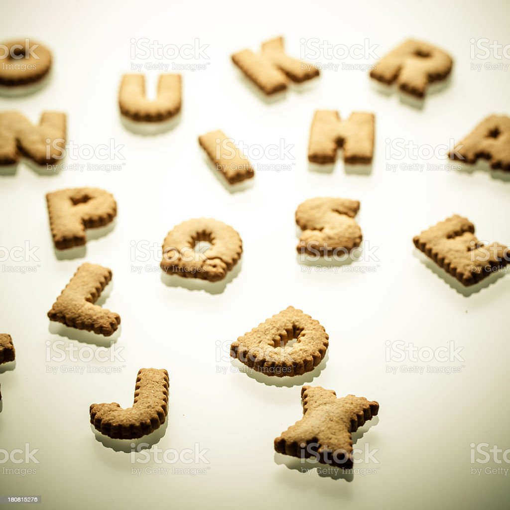 Shortbread Letters royalty-free stock photo
