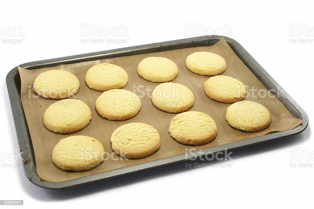 Shortbread on a Baking Tray stock photo