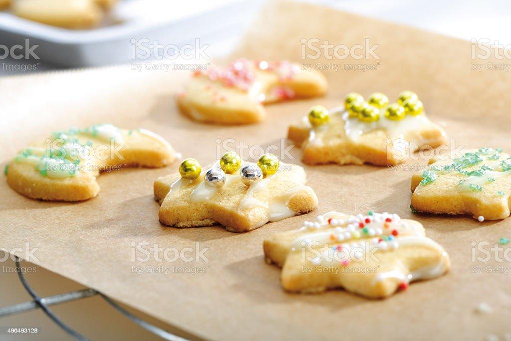 Shortcrust biscuits stock photo