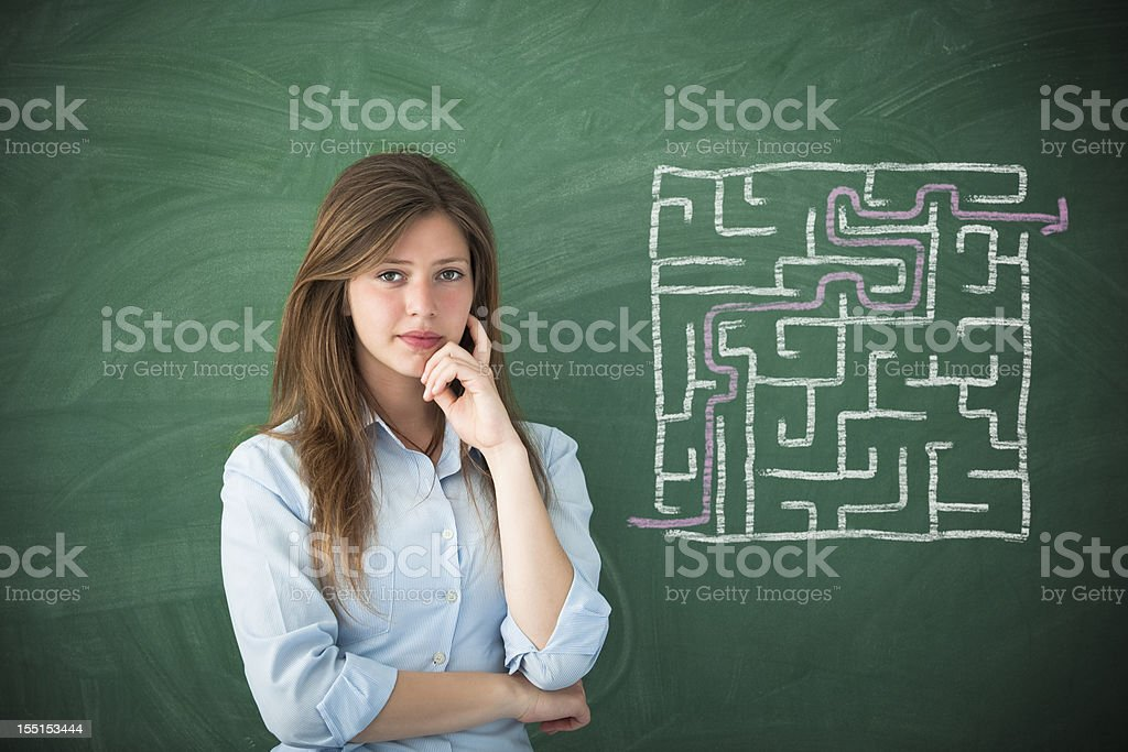shortest path royalty-free stock photo