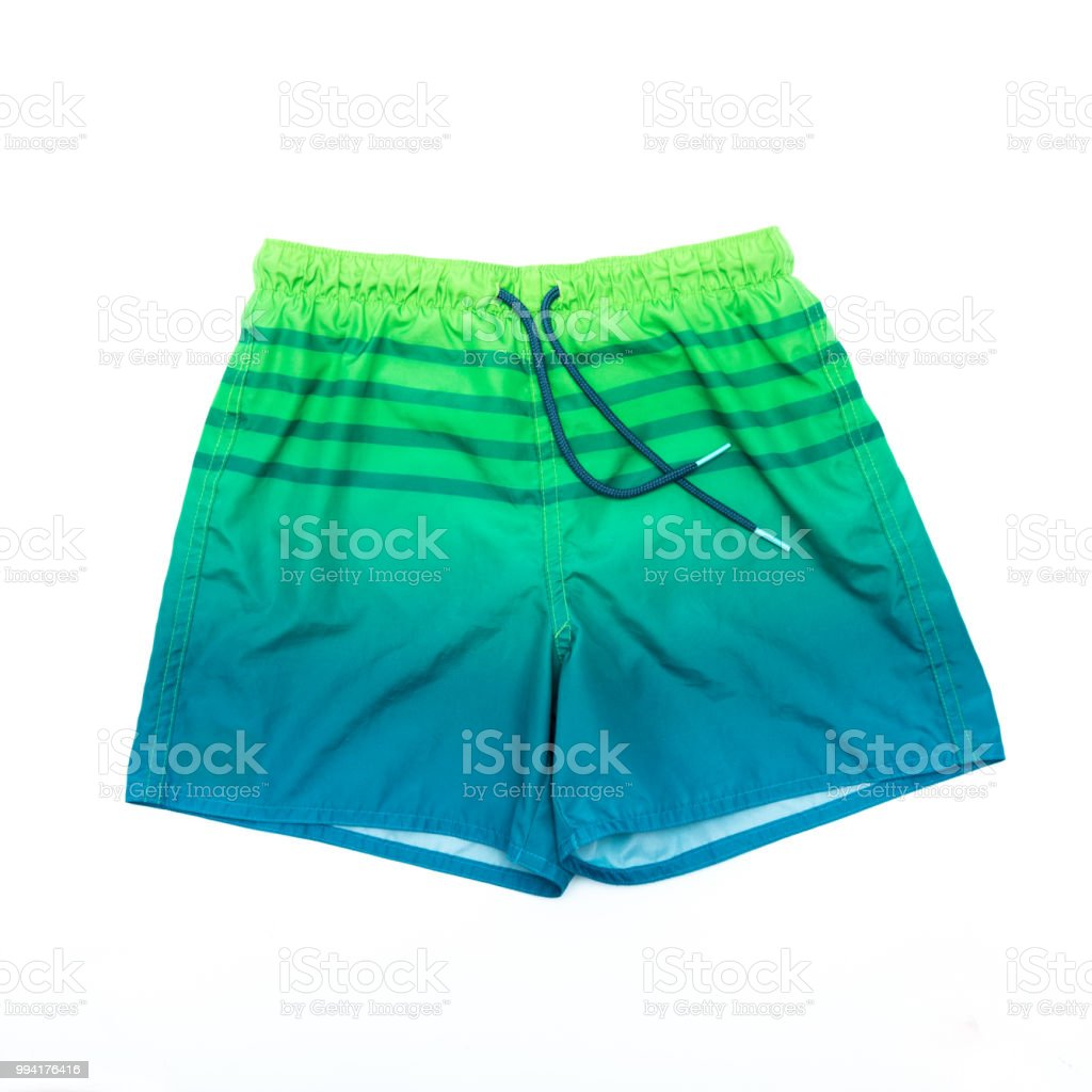 shorts for swimming on a white background isolated stock photo