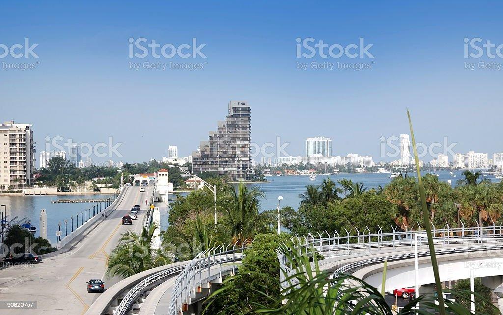 shortway to miami beach stock photo
