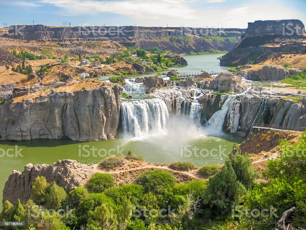 Shoshone Falls Idaho stock photo