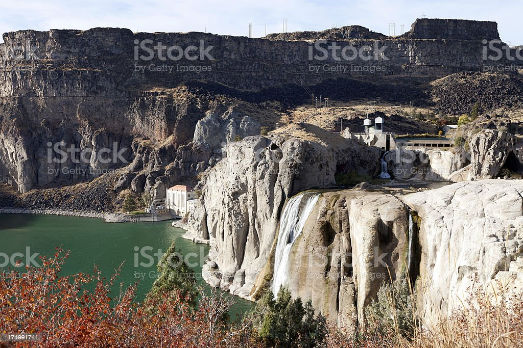 Shoshone falls in dry season stock photo