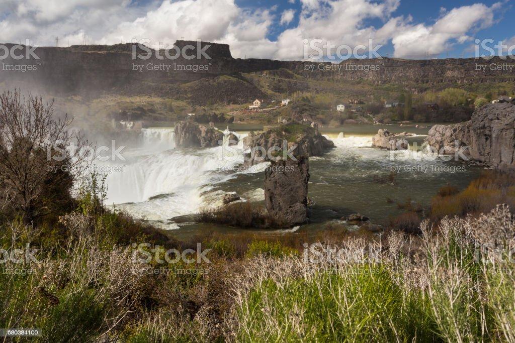 Shoshone falls in Idaho royalty-free stock photo