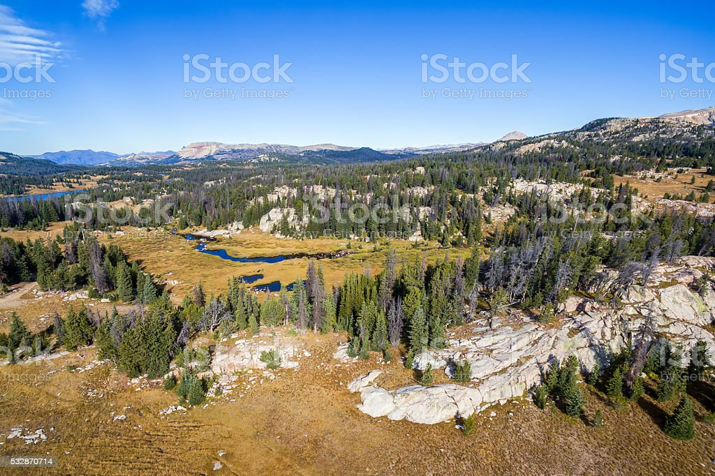 Shoshone National Forest View stock photo