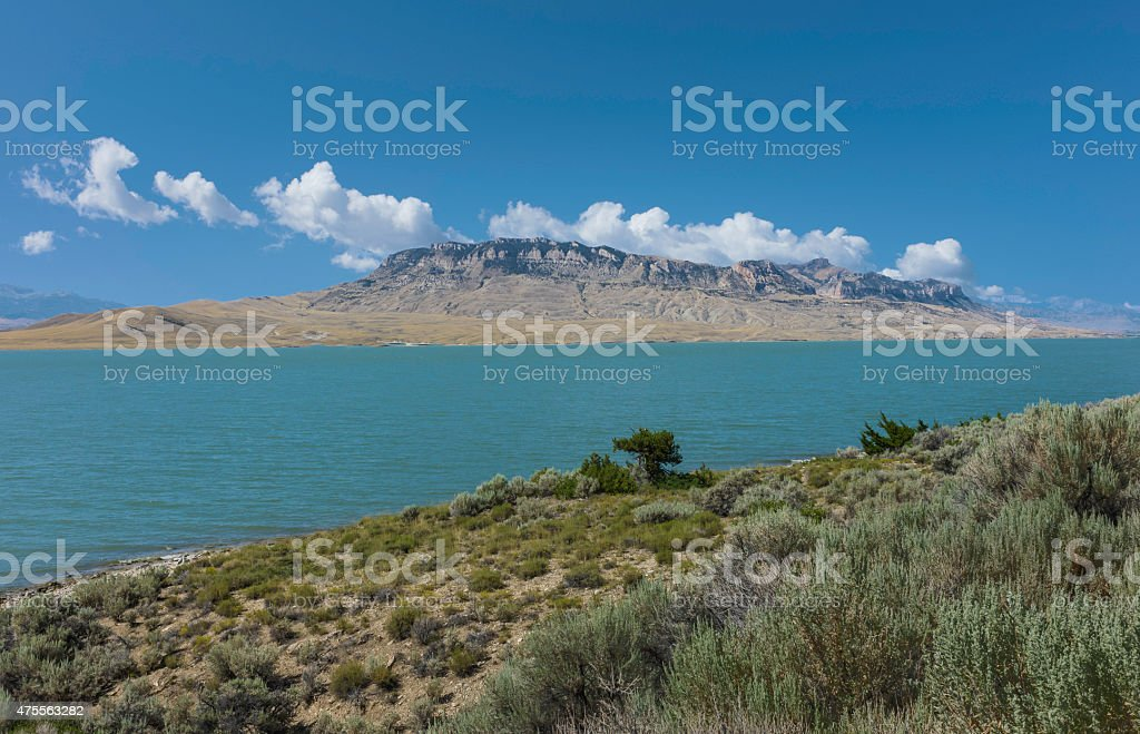 Shoshone river, Buffalo Bill state Park, Cody, Wyoming, USA. stock photo