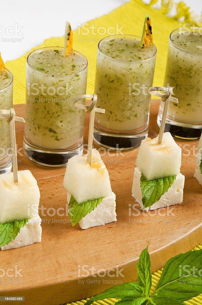 Shot drinks stock photo
