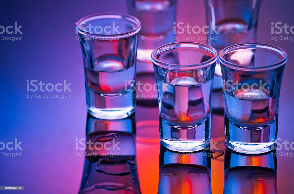 shot glasses royalty-free stock photo