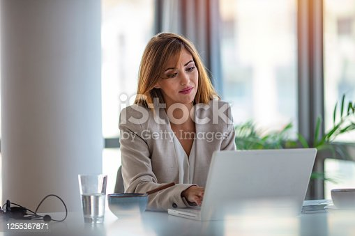 637233964 istock photo Shot of a cheerful young businesswoman 1255367871