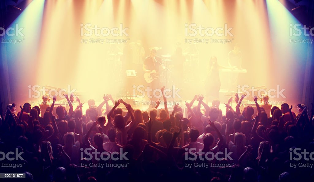 Packed with devoted fans stock photo