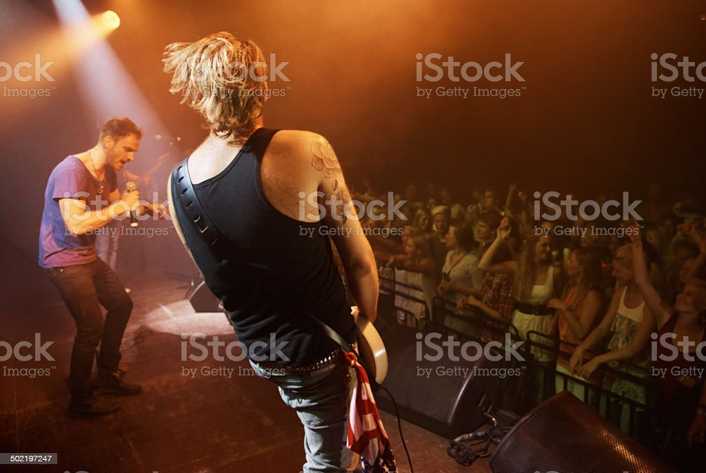 Time to rock out with a solo... stock photo