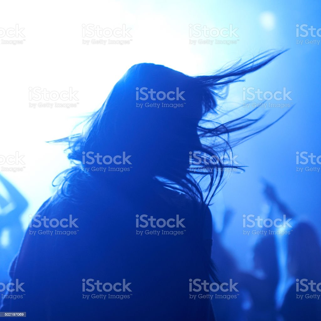Music is a part of her soul stock photo