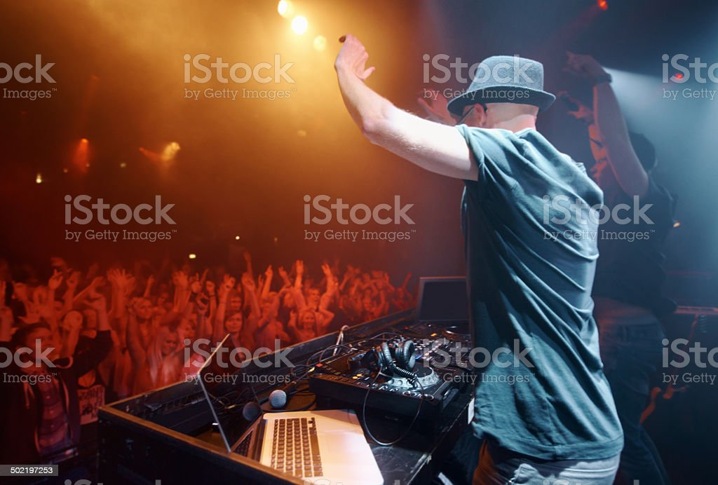 Unadulterated musical passion stock photo