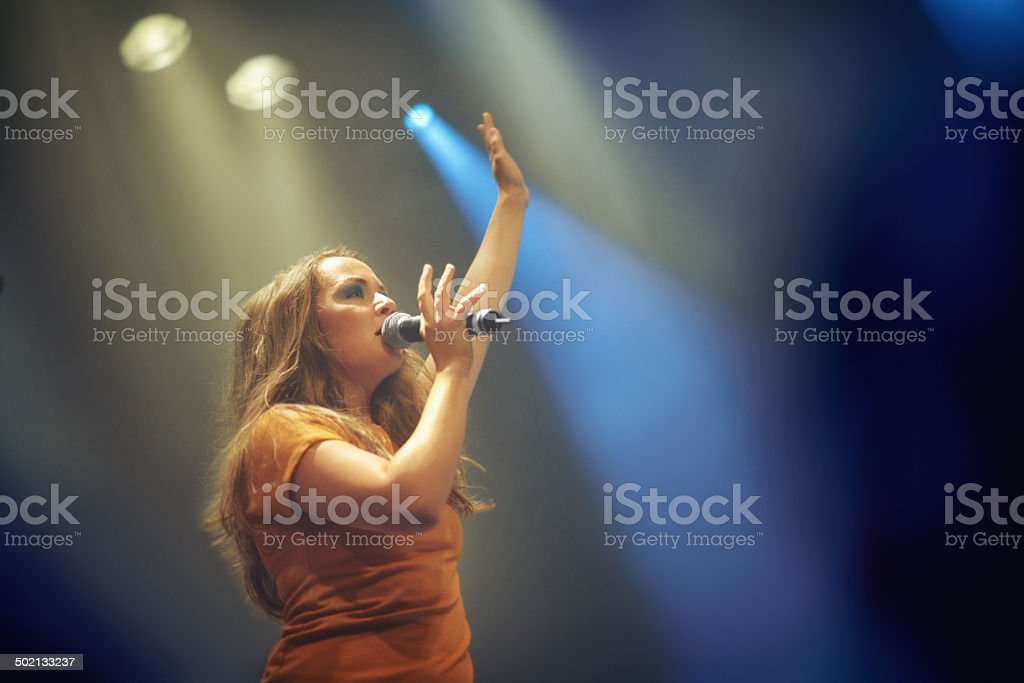 Sharing a piece of her soul stock photo