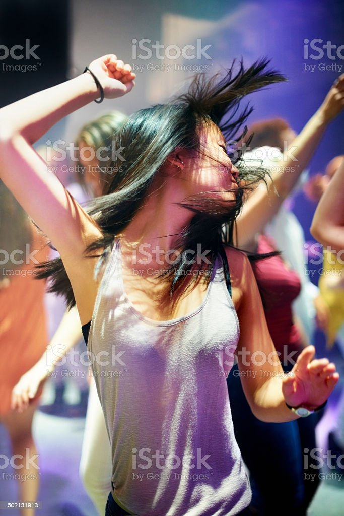 She's having a good time! stock photo