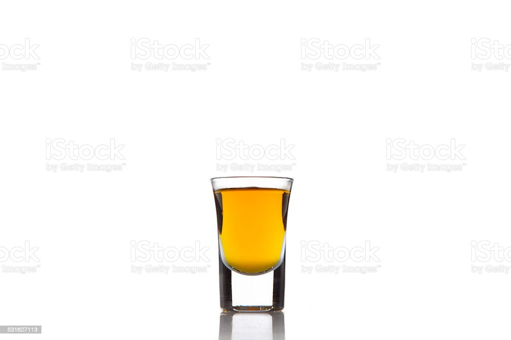 Shot of Bourbon stock photo