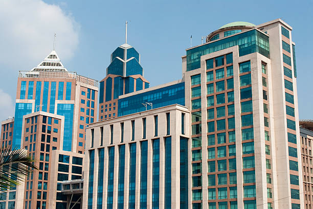 Shot of buildings in Bangalore Buildings in downtown Bangalore bangalore stock pictures, royalty-free photos & images