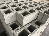 shot of cinderblocks