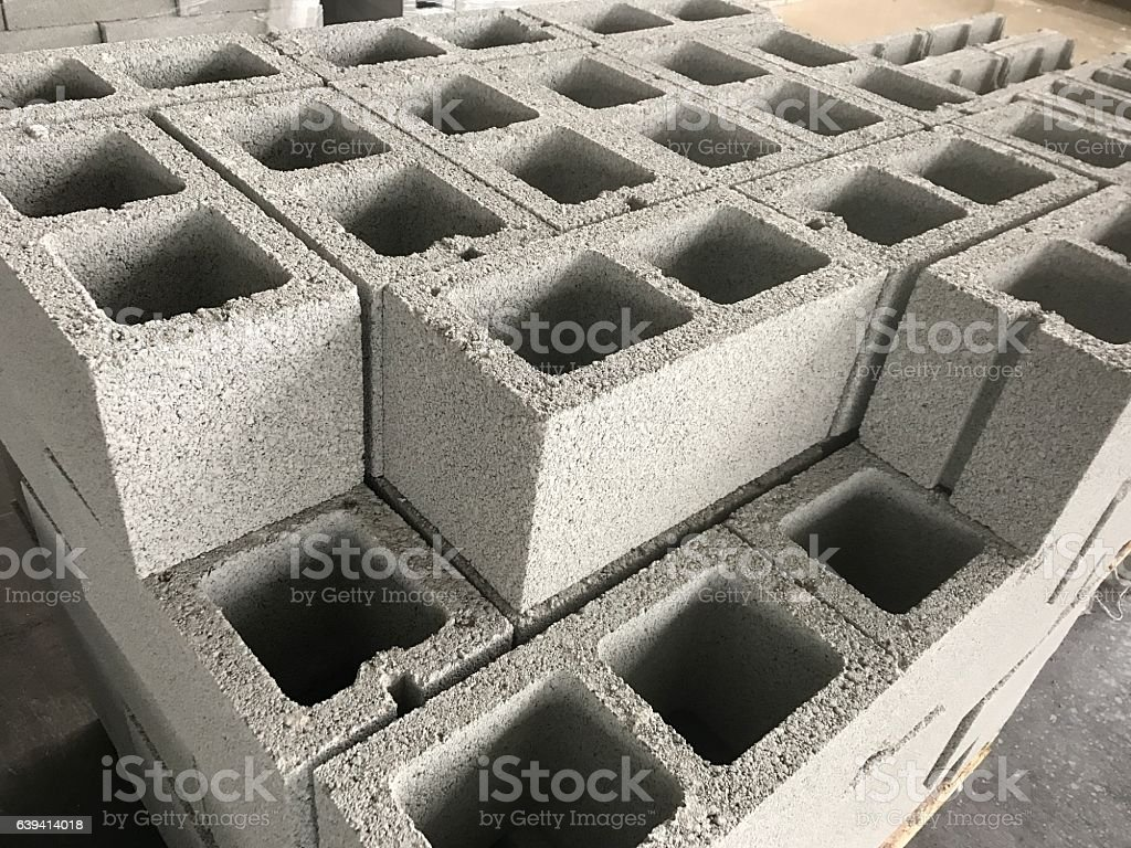 shot of cinderblocks stock photo