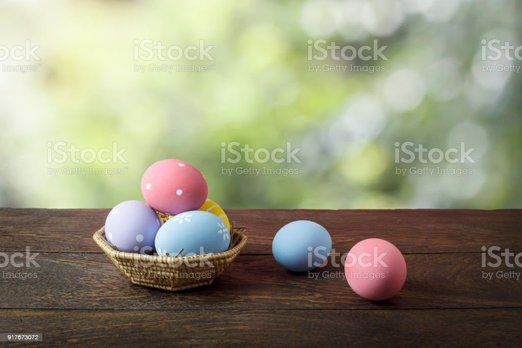 Shot Of Decoration Happy Easter Holiday Background