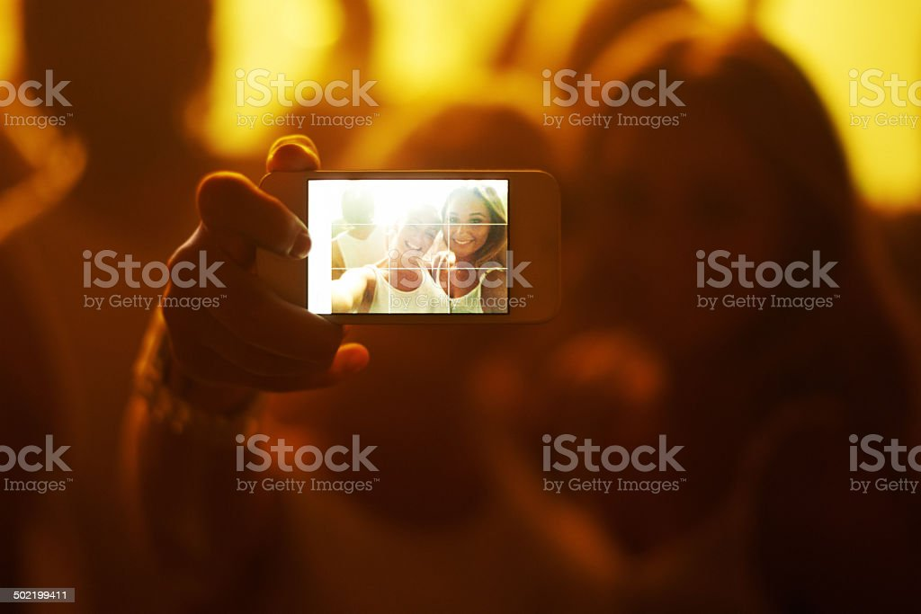 What a night to remember! stock photo