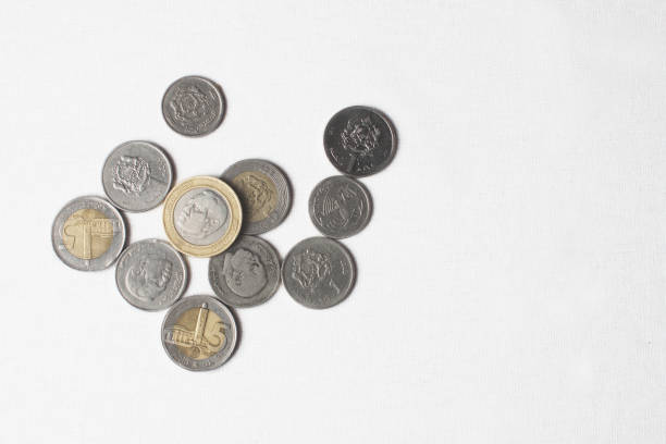 Shot Of Moroccan Coins stock photo