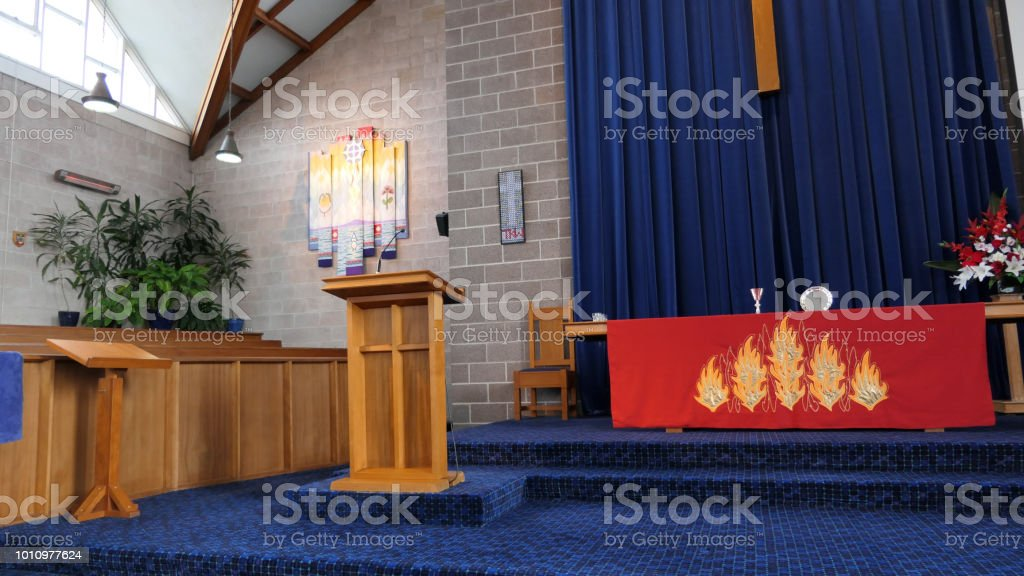 Shot Of Religious Chapel Or Funeral Home For Funeral Service Stock