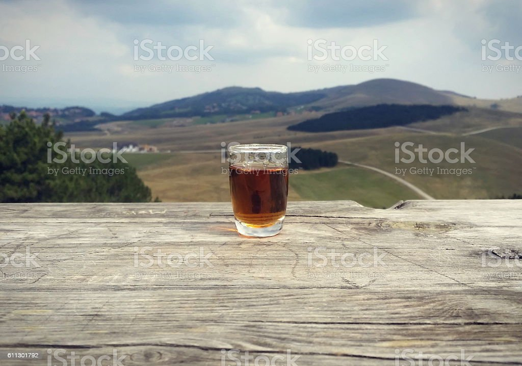 Shot of spirit with landscape in the background stock photo