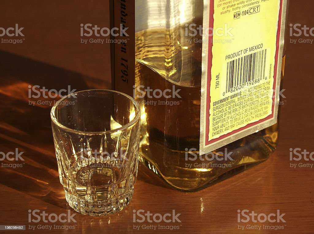 shot of tequila royalty-free stock photo