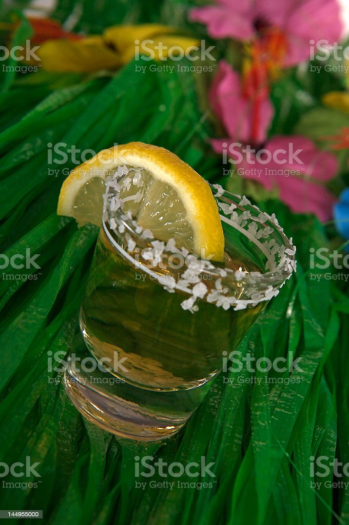 Shot of tequila stock photo