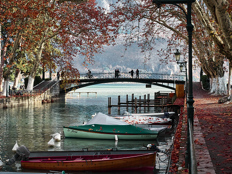 Shot Of The Canal Du Vassè Which Brings To The Pont Des Amours Stock Photo - Download Image Now
