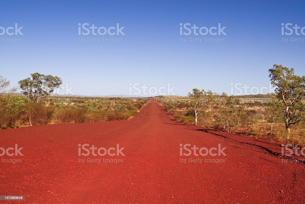 A shot of the outback track in the daytime stock photo