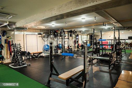 Shot of training gym