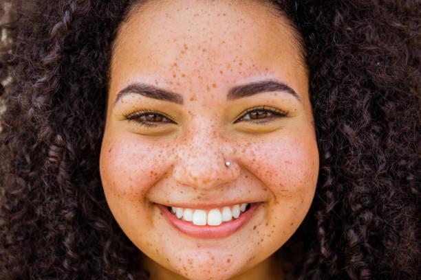 Shot of young brazilian woman stock photo