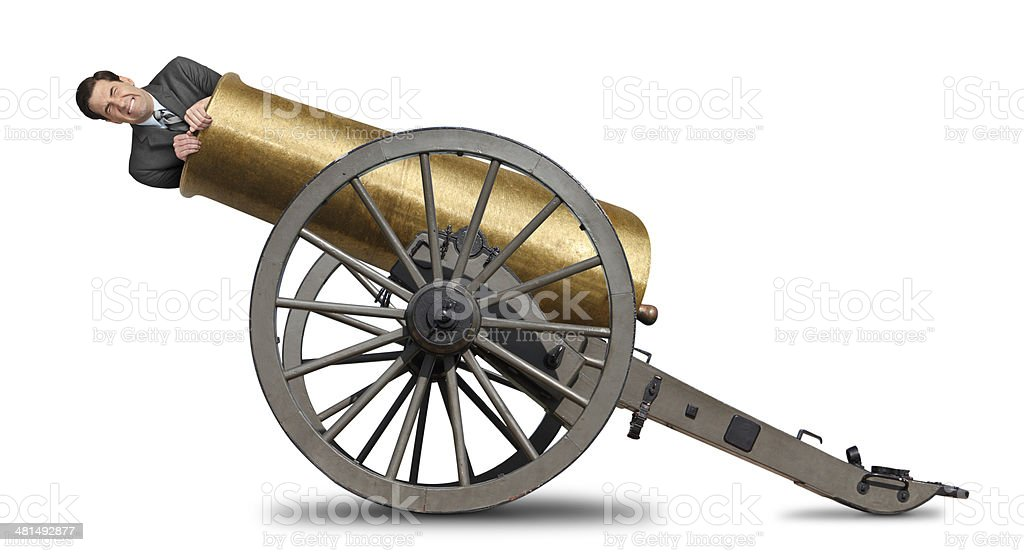 Shot Out Of Cannon stock photo