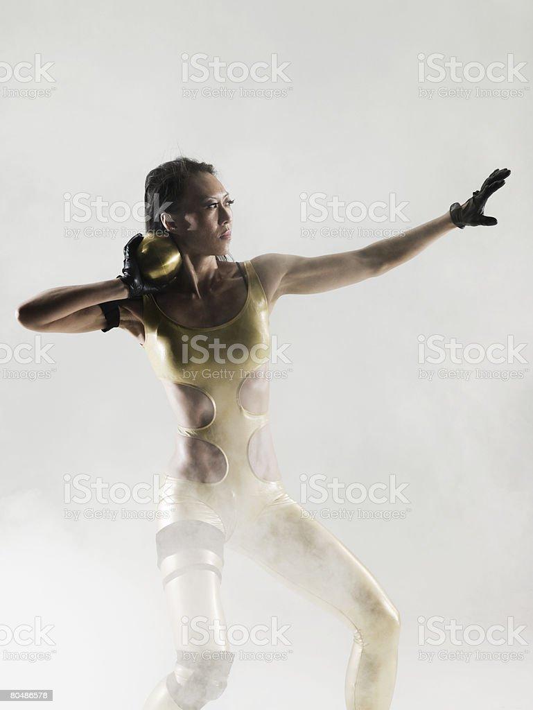 A shot putter stock photo