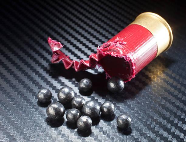 Shotgun ammunition stock photo
