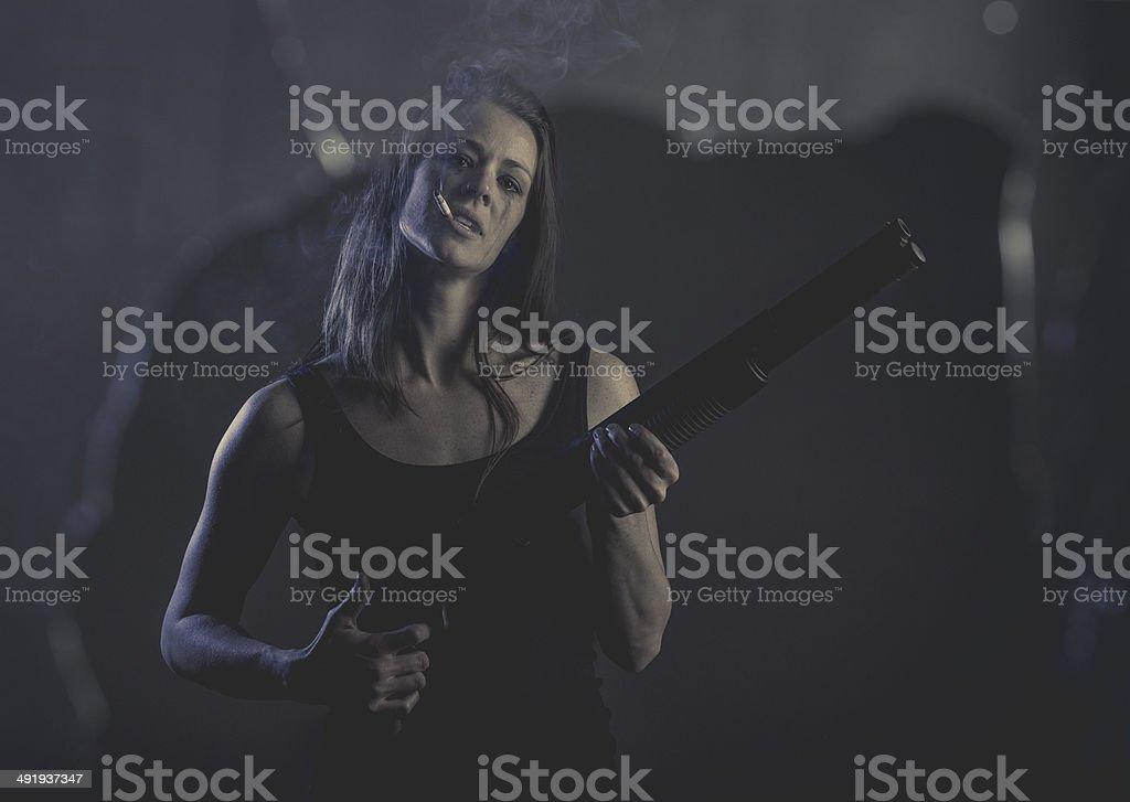 Shotgun Blast stock photo