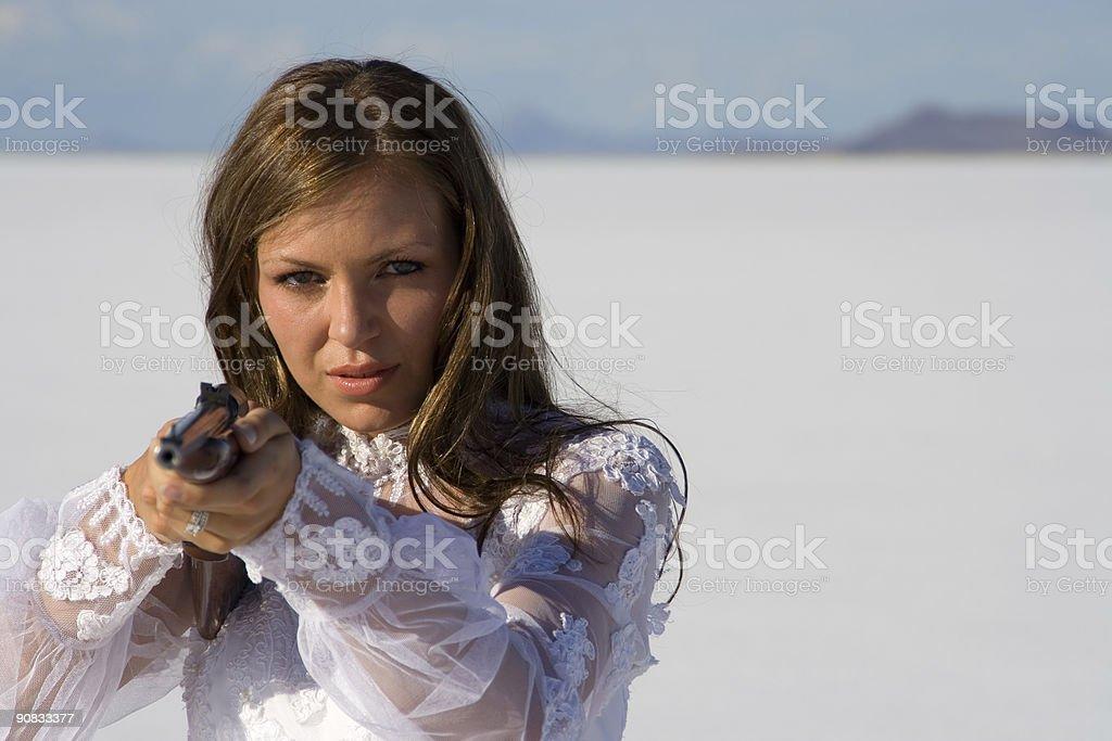 Shotgun Bride stock photo