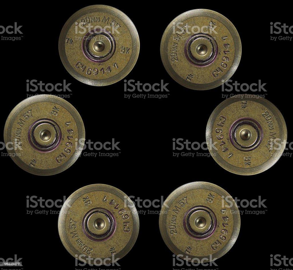 Shotgun bullets - war concept stock photo