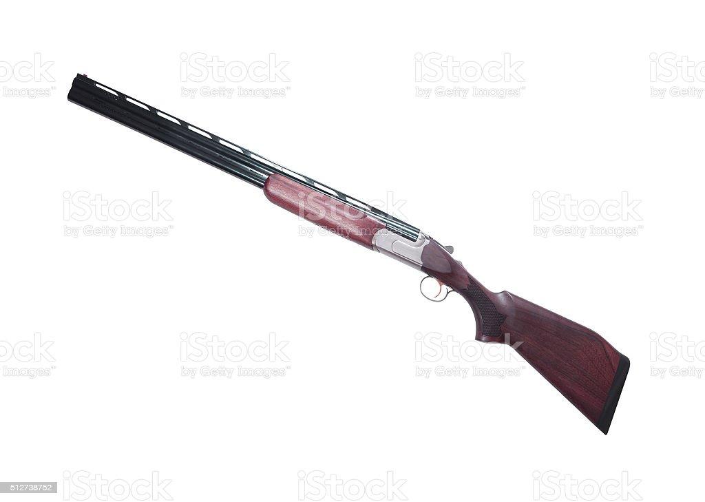 shotgun isolated on white stock photo