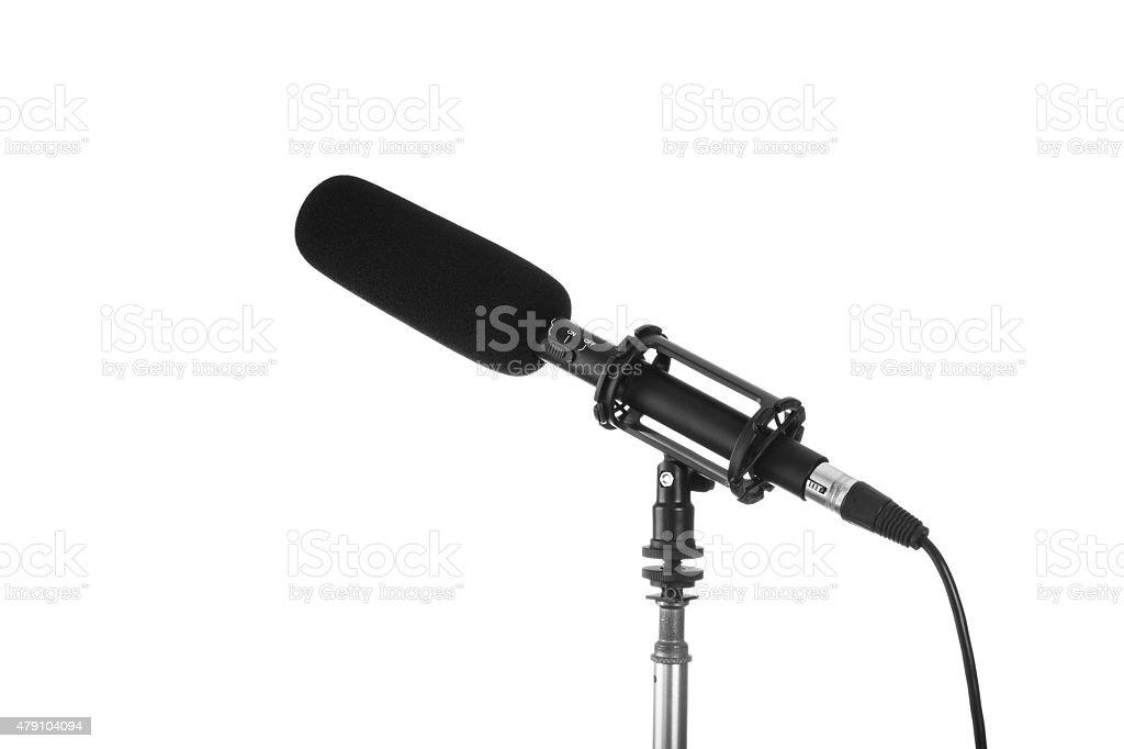 Shotgun Microphone royalty-free stock photo