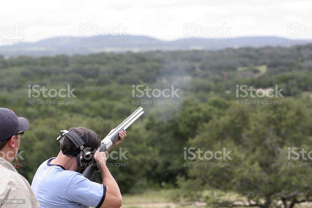 Shotgun Practice stock photo