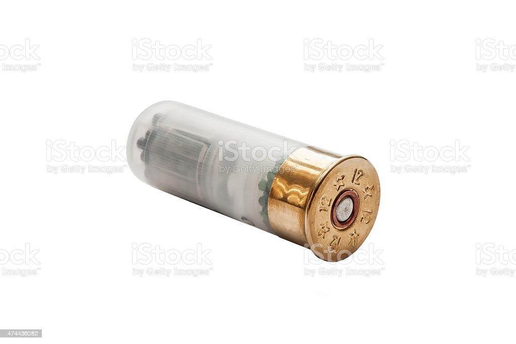 shotgun shell isolated on white stock photo